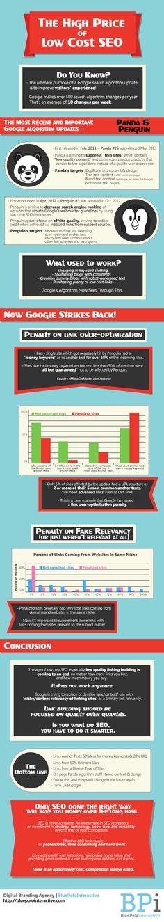 El alto precio del SEO low cost #infografia #infographic #seo