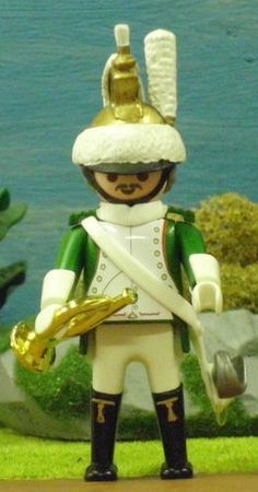 FRENCH DRAGOON TRUMPETER NAPOLEON GUARD PLAYMOBIL © COLLECTOR CUSTOM - UNIQUE -6