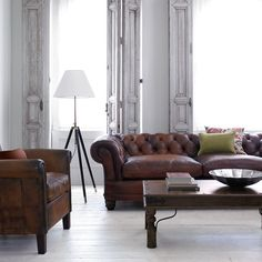 Buy John Lewis Chatsworth and Camford Leather Sofa Range, Tan online at JohnLewis.com - John Lewis