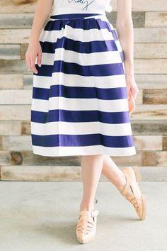 Seaing Stripes Skirt