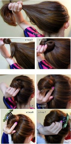 Always wondered how to do this, now I know(:  --Reminder to self: try this!  Simple, cute, and classy while still relaxed.