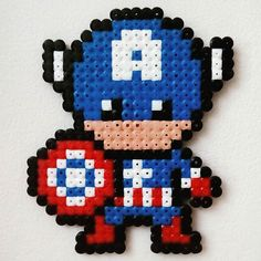 Captain America hama beads by planeta_namek