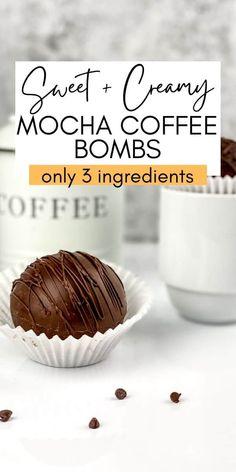 Hot Chocolate Coffee, Hot Chocolate Gifts, Chocolate Work, Christmas Hot Chocolate, Mocha Coffee, Hot Chocolate Recipes, Coffee Bomb Recipe, Coffee Recipes, Bombe Recipe