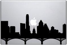 Austin Skyline Laptop Decal #texas #silhouette