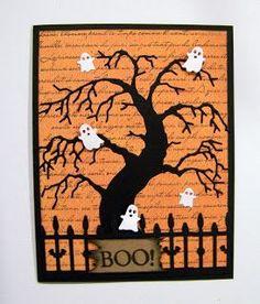 Ann Greenspan's Crafts: Memory Box Halloween cards