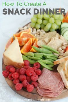 When you just don't feel like cooking, serve a Snack Dinner instead! via @https://www.pinterest.com/rmnutrition/