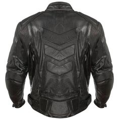 Xelement - Advanced Armored Padded Black Motorcycle Jacket - Back