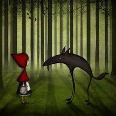 Little red riding hood – Rödluvan « Majali – design & illustration