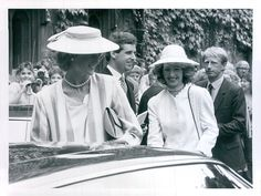 July 17, 1985: Princess Diana with new lady-in-waiting, Viscountess Campden at the Inauguration Service of the Dr Barnado's Volunteer Of The Year Award at Westminster Abbey