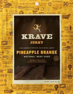 Krave Pineapple Orange Beef Jerky (4/3.25 oz): Amazon.com: Grocery & Gourmet Food