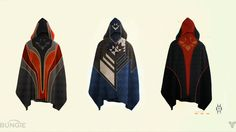 Bungie concept art for Hunter cloaks. -I really like the middle one and as per the moon trailer it is an in game item (Unless they take it out before the release but I don't see why they would).
