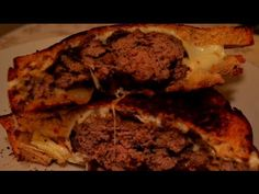 Patty Melt w/ Caramelized Onions - YouTube