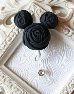 Mickey Mouse Rolled Rosette  ID Badge Holder with Retractable Reel - Perfect Teacher Gifts