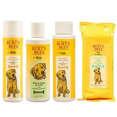 470-461 - Burt's Bees for Dogs 4-Piece Shampoo, Conditioner, Wipes & Lotion Set