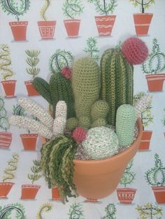 Crochet Pattern- Large Cactus Garden with 7 different patterns  PATTERN ONLY. $6.50, via Etsy.