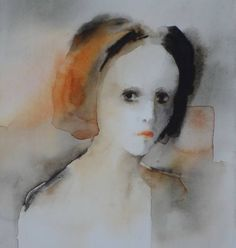 Pia Erlandsson works through watercolors to focus on the minute expressions of her subjects. Her fascination with human emotions is evident throughout her ethereal oeuvre.