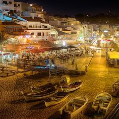 Night Partying by the Beach. (Carvoeiro, Portugal)