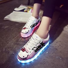USB Rechargeable LED Lamp Shoes Girls Hello Kitty Shell Shoes Parent-Child  Board Kids Casual Running Sneakers – World of Hello Kitty Merchandise 83917aee05e4
