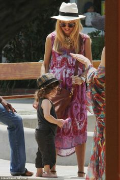 Rachel Zoe Pregnant Second Time | Her little man: Rachel has said that 'We are so blessed with Sky and ...