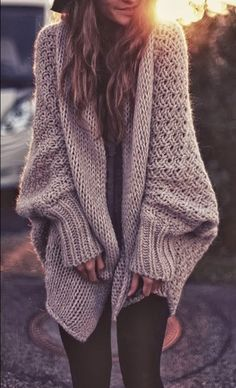 Oversized, Shapeless, Chunky and Beige Cardigan  I want thiiiiiis >.< *HINT*