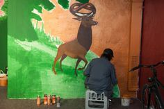 """""""Rotkäppchen vs. Der böse Wolf - Deutsche Romantik trifft Streetart""""    Der böse Wolf: Graffiti Session in der Tiefgarage Museum, Graffiti, Moose Art, Animals, Angry Wolf, Underground Garage, October, Artworks, Animales"""