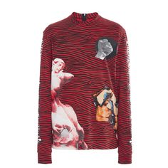 Proenza Schouler     Long Sleeve Printed T-Shirt (€620) ❤ liked on Polyvore featuring tops, t-shirts, proenza schouler, proenza schouler t shirt, proenza schouler top and proenza schouler tee
