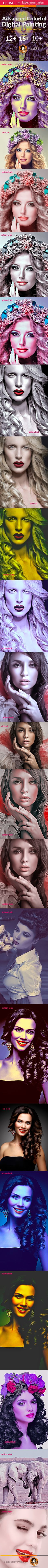 Advanced Colorful Digital Painting — Photoshop ATN #artist #Advanced Colorful Digital Painting • Available here → https://graphicriver.net/item/advanced-colorful-digital-painting/17361488?ref=pxcr