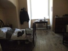 Visiting servant's bedroom at Ickworth House.  The basement has been reconstructed to show dwonstairs life in the 1930s.