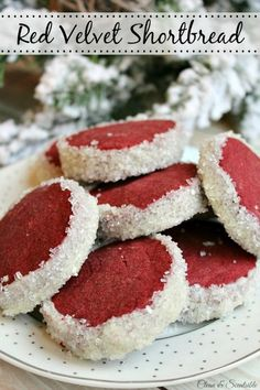 These red velvet shortbread cookies put a little twist on the old favorite and add a pretty pop of color to any dessert platter!
