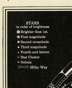 Vintage Constellation Map Star Chart Original 1935.