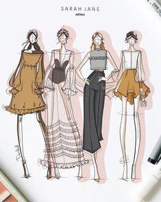 Dress Design Sketches, Fashion Design Sketchbook, Fashion Design Portfolio, Fashion Design Drawings, Fashion Sketches, Art Portfolio, Art Sketchbook, Fashion Design Illustrations, Art Illustrations