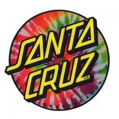 "Santa Cruz Skateboards 3"" Santa Cruz Tie Dye Dot Sticker"