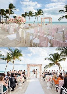 Destination Weddings, Beach Wedding, Pink Wedding, Wedding Decorations || Colin Cowie Weddings