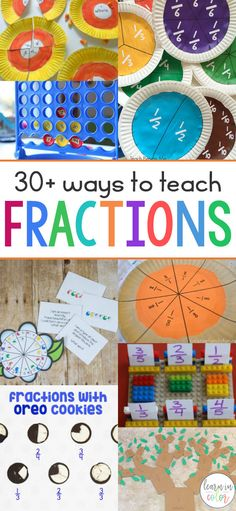 Teaching fractions can sometimes be frustrating. Try these hands-on activities to teach fractions to make learning a breeze. activities of the Best Hands-on Ways to Teach Fractions Maths 3e, Learning Fractions, Math Fractions, Math Math, Teaching Math, Fractions For Kids, Ordering Fractions, Teaching Shirts, Comparing Fractions
