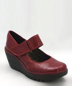 Red Patent Yag Mary Jane Wedge