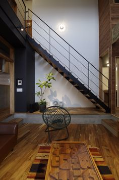 Healthy living tips wellness programs for women Staircase Handrail, Staircase Design, Industrial Living, Under Stairs, Dream Decor, Interior Design Inspiration, Home Projects, New Homes, Architecture