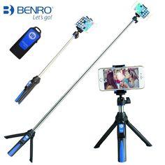 33inch Handheld & mini Tripod 3 in 1 Self-portrait Monopod Phone Selfie Stick w Bluetooth Remote