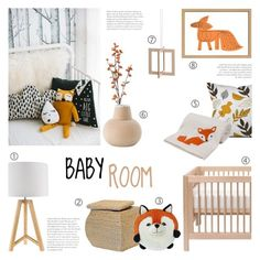 """Baby Room - Nursery Decor"" by c-silla ❤ liked on Polyvore featuring interior, interiors, interior design, home, home decor, interior decorating, Dot & Bo, Linea, Baum Bros. and SNUG"