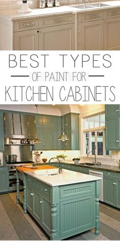 Types of Paint #Best For Painting #Kitchen Cabinets - Painted…