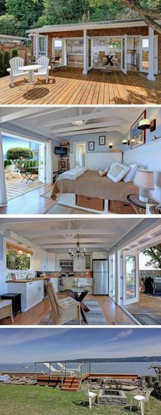 TINY HOUSE DESIGN INSPIRATION NO 72. I love the opening doors out onto the porch