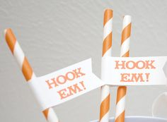 Hook Em  University of Texas Paper Drink by GoAgainstTheGrain, $12.00