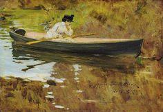 William MERRITT CHASE | Mrs. Chase in Prospect Park, 1886.