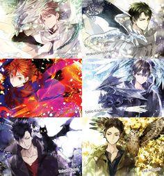 Oikawa Tooru, Ushijima Wakatoashi, Hinata Shouyou, Kageyama Tobio, Kuroo Tetsurou, Akaashi Keiji