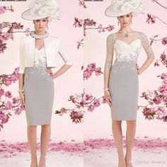 Ronald Joyce Mother Of The Bride Dresses With Half Sleeves V Neck Appliqued Mothers Dress Suit For Weddings Knee Length Mother Groom Gowns Silver Mother Of The Groom Dresses Teal Mother Of The Bride Dress From Dresstop, $129.85  Dhgate.Com