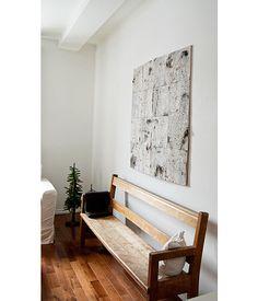 Diy Birch Bark Wall Art  - Tutorial  Now to find a dead birch tree!