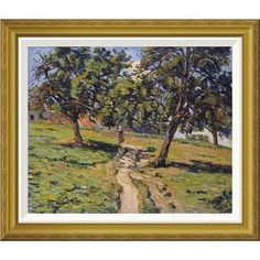 "Global Gallery 'Pathe at Damiette' by Armand Guillaumin Framed Painting Print Size: 24.02"" H x 28"" W x 1.5"" D"