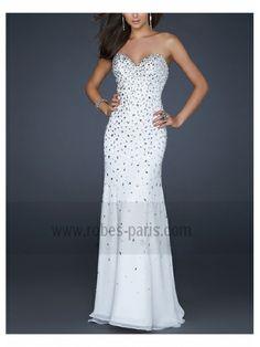 Robes de soirée H368 blanc