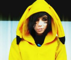 This is just the cutest thing on earth! Andy as Pikachu.