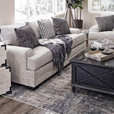 7 Living Room Color Schemes that will Make Your Space Look Professionally Designed - The Trending House Living Room Grey, Living Room Sets, Home And Living, Living Room Designs, Living Room Furniture Sets, Farmhouse Living Room Furniture, Cream Sofa Living Room Color Schemes, Living Room Decor Grey Couch, Farmhouse Family Rooms