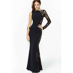 Free Shipping 2016 New Fashion Sexy Lace Patchwork One Shoulder Long Full Dresses Floor Length Plus Size 2XL Women Asymmetrical-in Dresses from Women's Clothing & Accessories on Aliexpress.com | Alibaba Group
